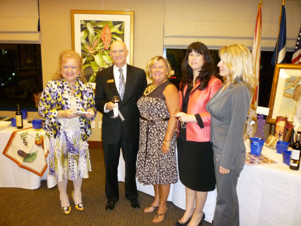 Denyse, Fine Mark Bank Pres. Dick Riley, Linda, Duan & Lisa
