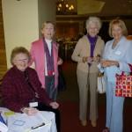 Shirley welcoming Helen, Mariana & Renate