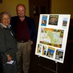 Celma & Des admiring Dordogne travel poster