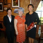 12 - Sandrine & Mgr. Sophia of Cartier Waterside Store presenting complimentary copies of Cartier Magazine