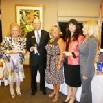 Denyse, Fine Mark Bank Pres. Dick Riley, Linda, Duan & Lisa