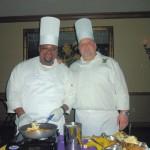 Chefs serving Bananas Foster