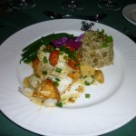 11 - Delicious entree (Redfish with crabmeat)